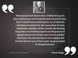 when people look back at inspirational quote by victor hugo
