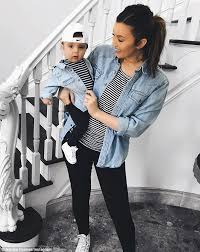 Ashlee Holmes wears matching outfits with 7-month-old son | Daily Mail  Online
