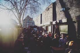 the beer garden looking busy at the