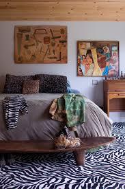 zebra print rug in bedroom modern