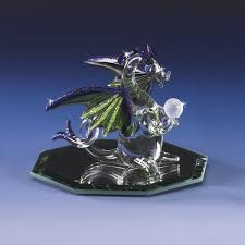 dragon gaze hand blown glass figurine