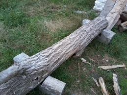 How To Split Fence Rails Out Of Logs Dengarden Home And Garden