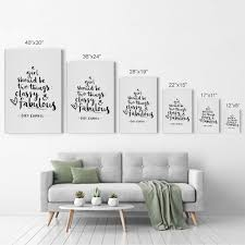 A Girl Should Be Two Things Classy And Fabulous Motivational Quote Wal Smile Art Design
