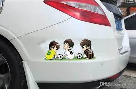2020 14 26 Quality 3d Pvc Car Sticker Soccer Messi Print Motorcycle Car Emblem Badge Logo Decal Stickers Car Styling Sticker Accessories Qp014 From Jacywu 0 79 Dhgate Com