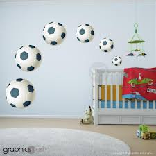 Football Soccer Balls Set Of 6 Printed Wall Decals Graphicsmesh