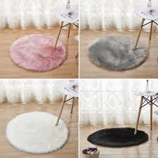 Ultra Soft Round Blue Area Rugs For Bedroom Kids Room Fluffy Baby Nursery Carpet Mat Home Decor 35inch White Walmart Com Walmart Com