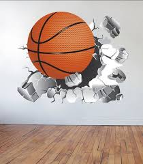 Basketball Wall Decal Basketball Sticker Vinyl Wall Sticker Etsy Basketball Wall Basketball Wall Decals Wall Decals