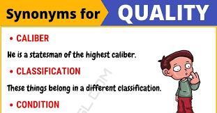 quality synonym list of 95 synonyms