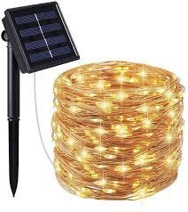 2 packs solar string lights 200 led