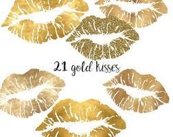Gold Lips Etsy