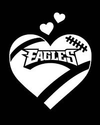 Philadelphia Eagles Football Heart Vinyl Car Die Cut Decal Etsy