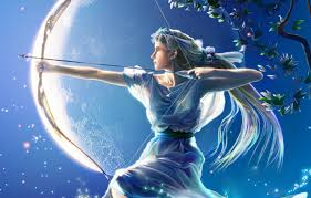 wallpaper the moon figure bow