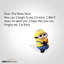 minion sorry images editing option