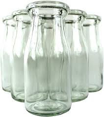 com half pint glass milk bottle