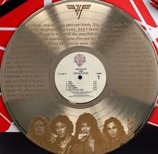 Van Halen Gold LP Record Display Etched W/ Lyrics to Jump M4 | Gold Record  Outlet Album and Disc Collectible Memorabilia