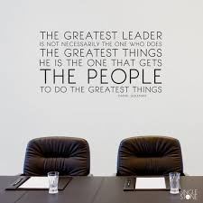 The Greatest Leader Wall Decal Daniel Goleman Quote Business Etsy