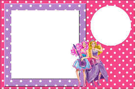 1 Convite1 Jpg 1600 1068 Barbie Invitations Barbie Birthday