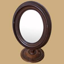 antique victorian walnut toilet mirror