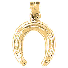 10k 14k or 18k gold horseshoe pendant