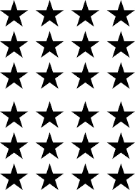 The Decal Store Com By Yadda Yadda Design Co Patt Gls Star Glossy Vinyl Stars Small 24 Pack Vinyl Transfer