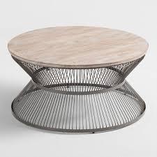 wood and metal kearny coffee table