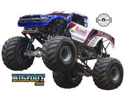 Bigfoot 4x4 Monster Truck Running Over Name Decal Bigfoot Etsy