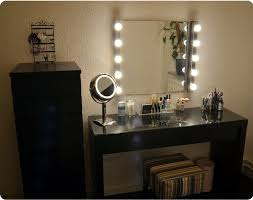 black makeup vanity with lights jpg