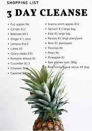 3 day diy detox cleanse amy trere