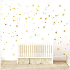 Amazon Com Gold Stars Wall Decal 130 Decals Stars Pattern Diy Wall Stickers Removable Home Decoration Metallic Vinyl Polka Wall Decor Sticker For Bedroom Home Kitchen
