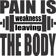 Amazon Com Pain Is Weakness Leaving The Body Wall Vinyl Decal Sign 7 X 7 Inches Arts Crafts Sewing