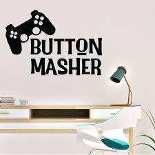 Ebern Designs Button Masher Computer Gaming Vinyl Wall Decal Wayfair