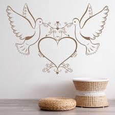 Love Birds Doves Heart Wall Decal Sticker Ws 18508 Ebay