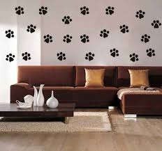 cat paw prints wall art vinyl decals