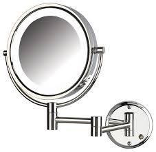 wall mounted makeup mirror chrome