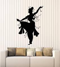 Vinyl Wall Decal India Indian Woman Dancer Belly Dance Dancing Sticker Wallstickers4you