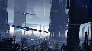 scifi city 4k hd artist 4k wallpapers