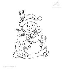 1001 Kleurplaten Kerst Sneeuwpop Sneeuwpop Kleurplaat