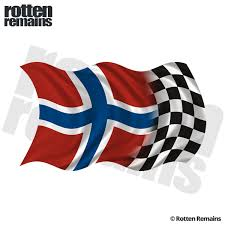 Norway Racing Checkered Flag Decal Norwegian Car Vinyl Sticker Rh Rotten Remains High Quality Stickers Decals