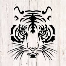 Tiger Decal Car Decal Tiger Decal For Car Tiger Head Etsy