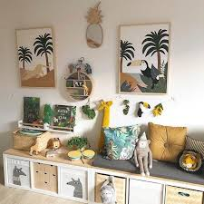 Inspirational Children S Decor And Art Jungle Themed Kids Room Ideas With Animal Wall Art In Ikea Frames Ki In 2020 Themed Kids Room Kids Jungle Room Baby Room Decor