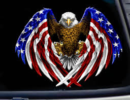 American Usa Flag Eagle Decal Vinyl Sticker 7 Width With Free Shipping Reflective Decals Trucker Quotes Big Trucks