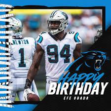 Happy Birthday, Efe Obada 🎂 - Carolina Panthers   Facebook
