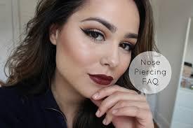 nose pierced saubhaya