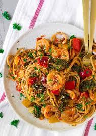 y shrimp pasta creamy spgahetti