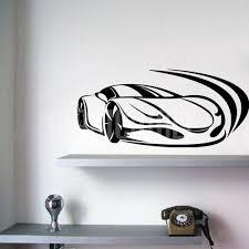 Wall Decals Racing Car Ferrari Wall Stickers