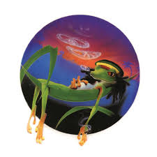 A297 Rasta Lizard Art Decal