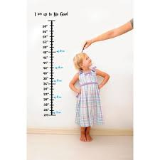 Baby Vinyl Growth Chart Decal Hanging Height Ruler Sticker For Children Kids Room Wall Children S Nursery Decor I Am Up To No Good 8 Inches X 40 Inches Walmart Com Walmart Com