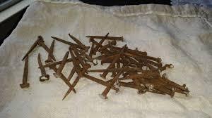 primitive blacksmith wrought iron nails