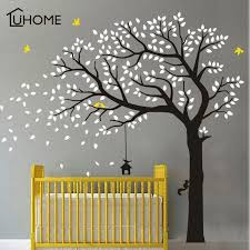 Large Tree Wall Sticker Branches Birds Removable Vinyl Nursery Art Decals Pvc Poster Wall Stickers For Baby Kids Room Decor Pixdora Wall Murals Diy Baby Wall Art Sticker Wall Art