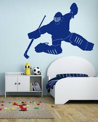 Ik598 Wall Decal Sticker Roller Hockey Stick Goalie Stick Puck Sport T Stickersforlife